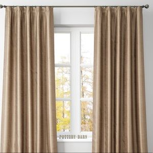 Pottery Barn Dupioni Silk Rod Pocket Curtain